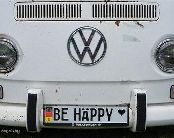 Be Happy VW Bus Photographic Print