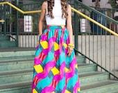 Mélange Mode Musical Maxi Skirt