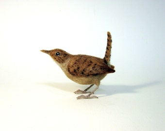 House Wren Needle Felted Bird - Made to order