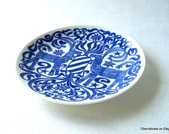 Gustavsberg collectors Christmas plate number 5 in the series from 1975, design by Sven Jonson