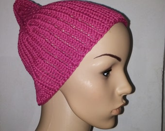 Pink cap with short lobes