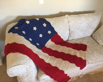 Made to order Flag Afghan