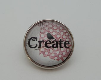 Glass Popper Snap Charm CREATE Snap Jewelry