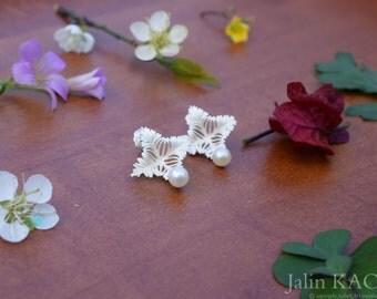 love me tender-3d printed freshwater pearl sterling silver earrings