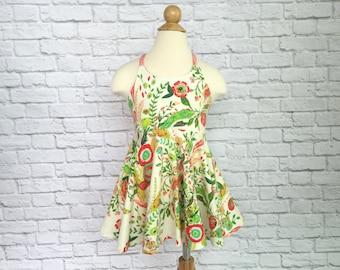 Festival Dress, Girls Dress, Baby Dress, Toddler Dress, Beach Dress, Summer Dress, Twirling Dress, Boho Dress,  Secret Garden Floral