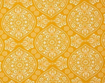 Moda fabric by the yard - yellow fabric #16079