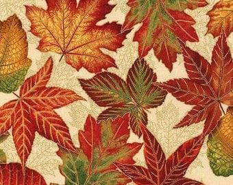 Autumn fabric - fall fabric - leaf fabric - leaves fabric - falltime fabric - harvest fabric - #16458