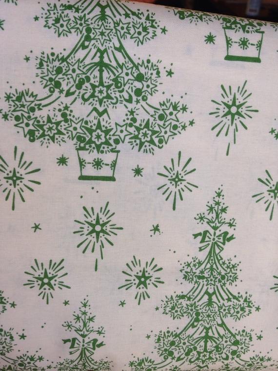 Sale christmas tree fabric by the yard christmas fabric for Cloth for sale by the yard
