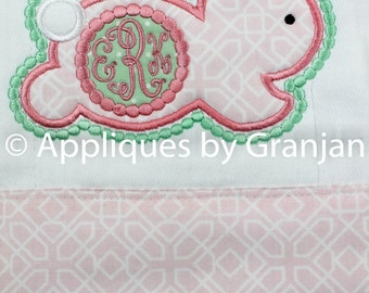Easter Burp Cloth, Personalized Burp Cloth, Appliqued Burp Cloth, Baby Girl, Girls Easter, Easter Bunny, Monogrammed Bunny, Easter Applique