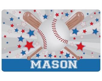 Baseball Gifts for Boys, Kids Baseball Gifts, Kids Personalized Placemat Baseball, Baseball Theme, Kids Home, Toddler Boys, Gifts for Boys