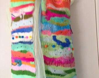 Gypsy nuno felted scarf