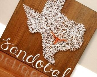 Texas string art etsy texas longhorn austin texas string art nail art teacher gift housewarming gift prinsesfo Image collections