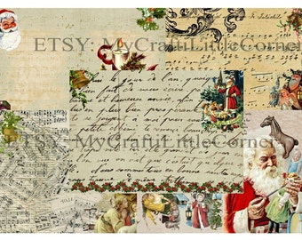 Vintage Christmas Journal pages INSTAND DOWNLOAD