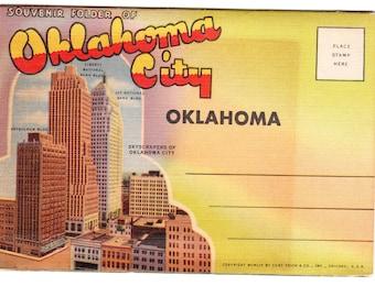 Oklahoma City Oklahoma Vintage Postcard Folder (unused)