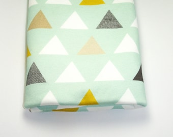 Mod Mint Triangles Lovey Blanket, Triangles Blanket, Minky Blanket, Minky Baby Blanket, Mint Baby Blanket, Baby Blanket Mod Mint Triangles