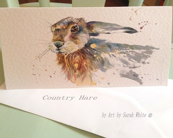 Country Hare Long card