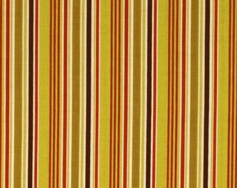 Extra 20% OFF Clearance 1/2 yard Indian Summer fabric by Zoe Pearn for Riley Blake  stripe green