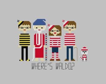 Cross Stitch Pattern Where's Waldo/Where's Wally//Craft Supplies//PDF Pattern//Instant Download//Digital Download
