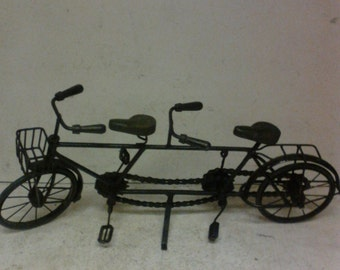 Folk art bicycle for two