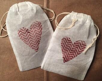 Favor Bag- Bridal- Baby- Wedding-Candy Bag- Valentines Day- SET of 3