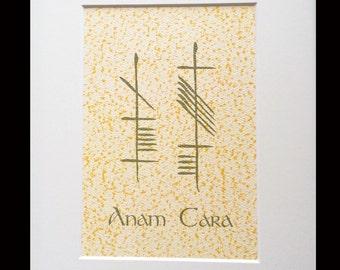 Soul Friend (Anam Cara) Ogham 8x10 Print