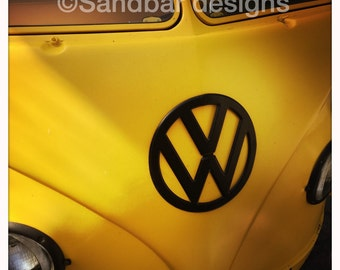 4 x 4 photo card-Bumblebee VW bus