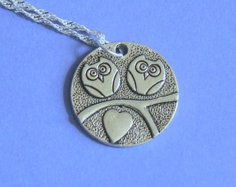 Silver Owl Charm Pendant Silver Necklace,Tibetan SIlver Charm,Silver Pendant,Silver Charm,Owl Pendant.Owl Pendant,Love Owls,Silver Jewellery