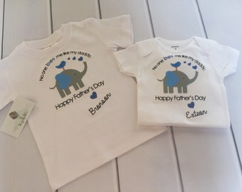 Father's Day Onesie/Happy Father's Day Top/Father's Day Gift/ Noone loves me like my Daddy/Happy Father's Day/ First Fathers Day