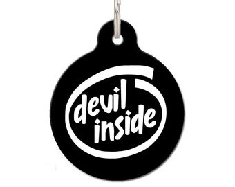 Devil Inside Pet ID Tag | FREE Personalization
