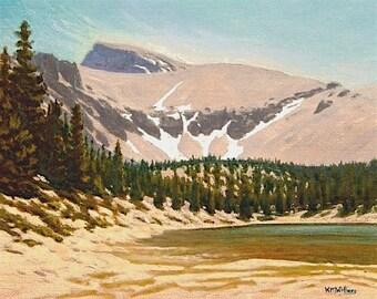 "Nevada ""Wheeler Peak' - Great Basin National Park - Original Landscape Painting - turquoise - plein air - western - mountains - lake"