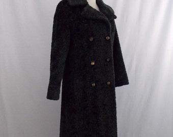 Vintage Russel Taylor Faux Persian Lamb Fur Coat