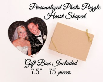 Personalized Photo Puzzle - 75 pieces -Wedding Gift