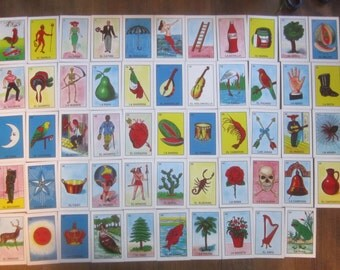 54 Picture Mexican Spanish Flashcards Game Cards