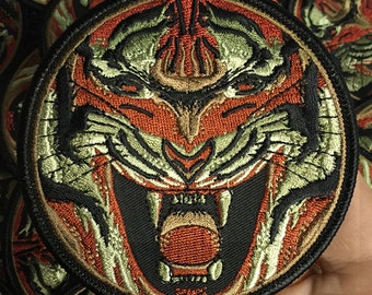 Embroidered Camo Tiger Patch
