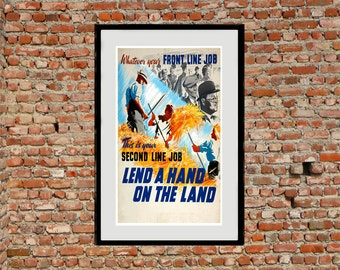 Food Production - Reprint of a WWII British Propaganda Poster
