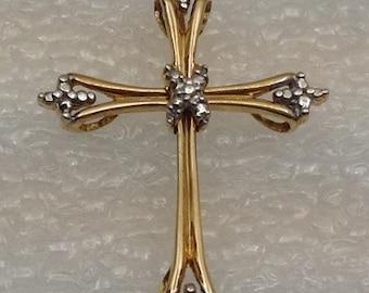 Vintage 10kt gold cross.