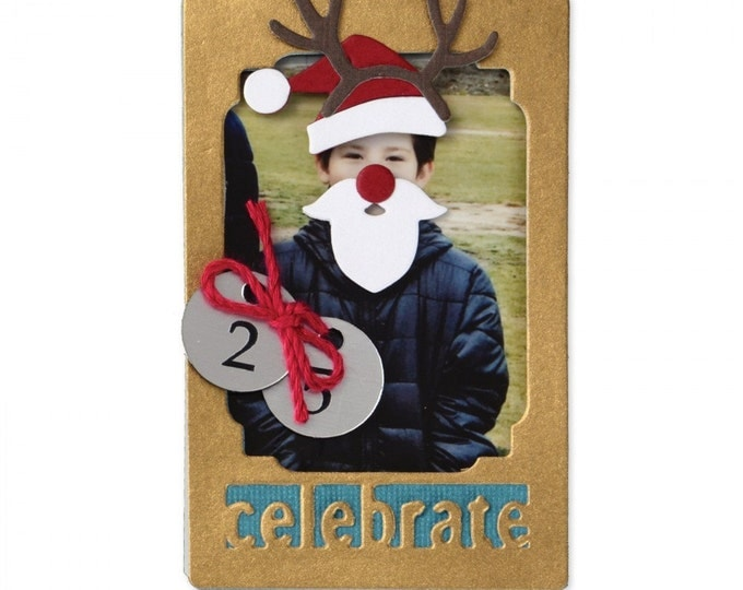 New! Sizzix Thinlits Die Set 12PK - Photo Frame, Holidays by Lynda Kanase 661402