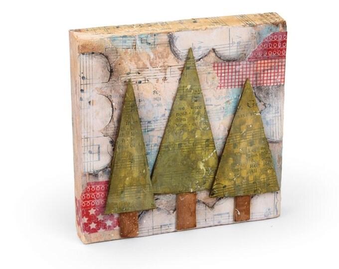 New! Sizzix Large Originals Die - Trees, Three by Stephanie Ackerman