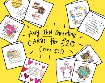 Any 10 Greeting Cards of your choice - Take your pick!