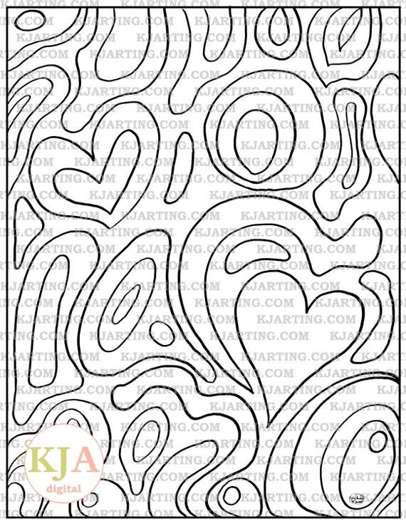 Line Art Zendoodle : Heart zendoodle line art printable zen kjarting
