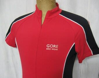 Gore Bike Wear Mens Vintage Cycling Bike Jersey Size Large Red-Black