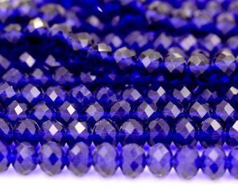 Royal Blue Crystal Beads