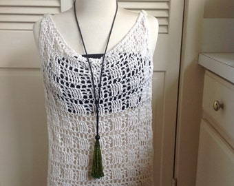 Crochet Swimsuit cover-up, summer top