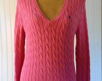 Vintage Women's Pink Ralph Lauren Sweater Vintage Sweater Pink Sweaters Medium Large Knit Sweaters