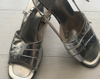 Silver vintage 60's sandals