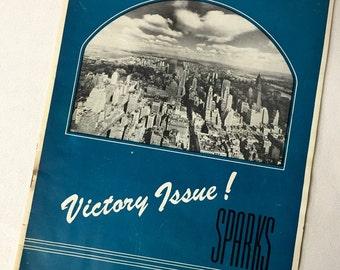 1945 Sparks Magazine - Macy's - WW2 Victory Issue