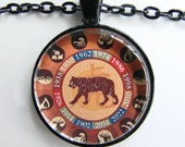 CHINESE YEAR of the TIGER Necklace -- Chinese Zodiac for him and her, Chinese New Year, Astrological birthday present, Zodiac art