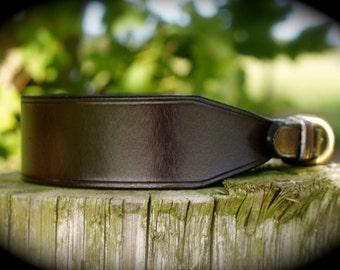 English Leather Whippet Collar, lurcher collar, greyhound collar