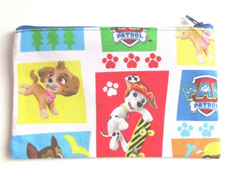 Paw Patrol Fabric Pencil Case // Marshall Pencil Case // Skye Pencil Case // Paw Patrol Birthday // Paw Patrol Party