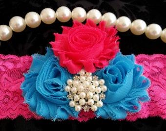 Headband/Hot Pink Headband/Baby Headbands/Infant Headbands/Baby Girl Headbands/Girl Headband Baby/Toddler Headbands/Headband/Photo Prop Baby